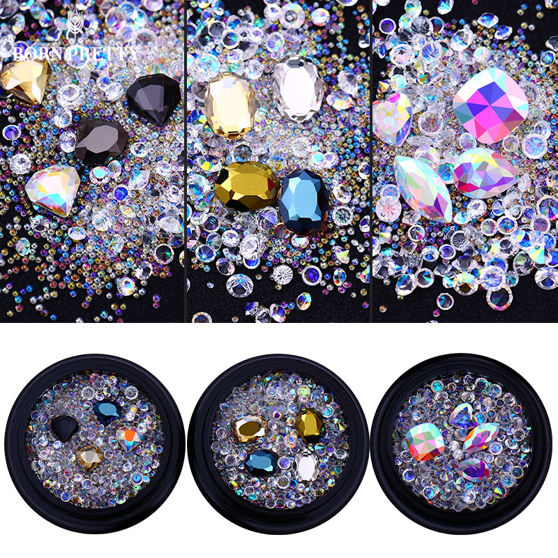 AB Color Nail Rhinestone Crystal Beads Sharp Bottom Micro Iridescent 3D Nail Art Decoration Manicure Tips Accessories 4 6 waterdrop shape 3d nail art sharp bottom glass rhinestone nail tip decoration phone decor accessories 10pc