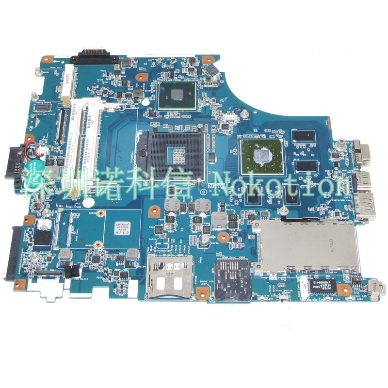 NOKOTION A1765405C For VAIO VPC-F M930 MBX-215 1P-009B500-8012 Intel Laptop Motherboard s989 PM55 GeForce GT330M motherboard for sony mbx 209 m922 mb mp 1p 0104j00 8012 100