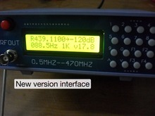 New version High frequency signal source RF generator 0.5-470MHz 0.5MHz-470MHz FM interphone tester