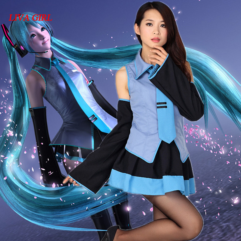 Free Shipping  Vocaloid Hatsune Miku Cosplay Costume Clothes Theatrical Costume
