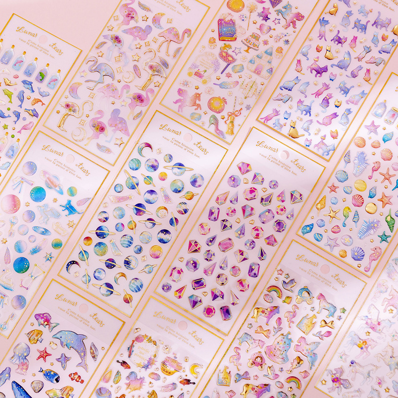 3D Magic Planet Crystal Dream Stickers Craft Cute Kawaii Stickers Scrapbooking DIY Diary Album Stick Label Stationery