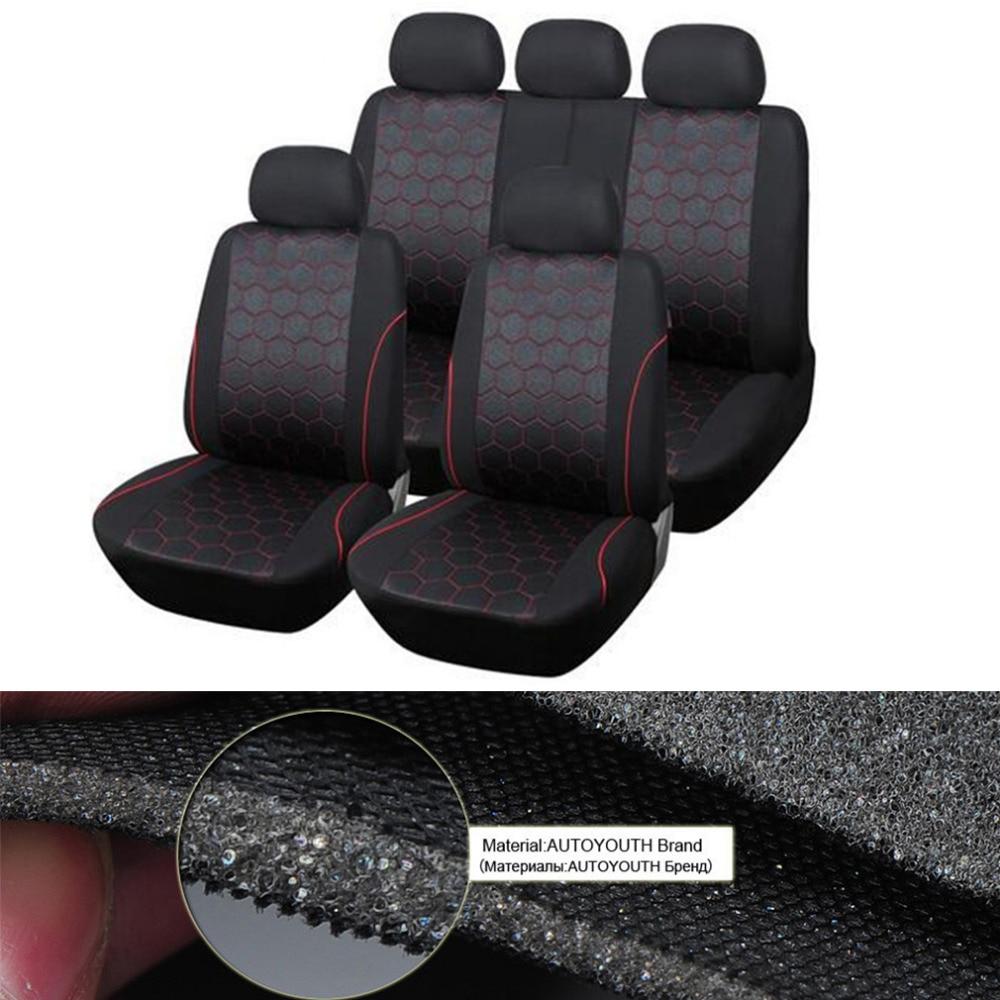 Newsest Polyester Auto Siège De Voiture Couvre Amovible Appuie-tête Hexagone Style De Voiture-style Hot Drop Shipping