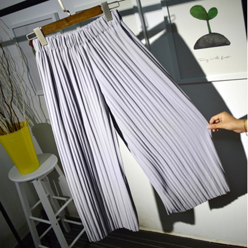 2016-women-wide-leg-legging-calf-length-summer-pant-black-white-fashion-pleated-pant-lady-quality (2)