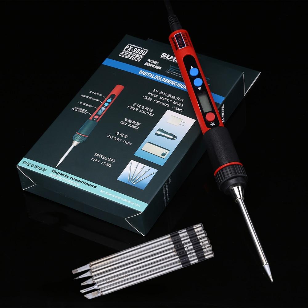 Portátil USB 5 V 10 W Temperatura Ajustável Ferro De Solda BGA Estação De Solda de Solda de Solda Soldagem Ferro Fer um Souder ferramentas