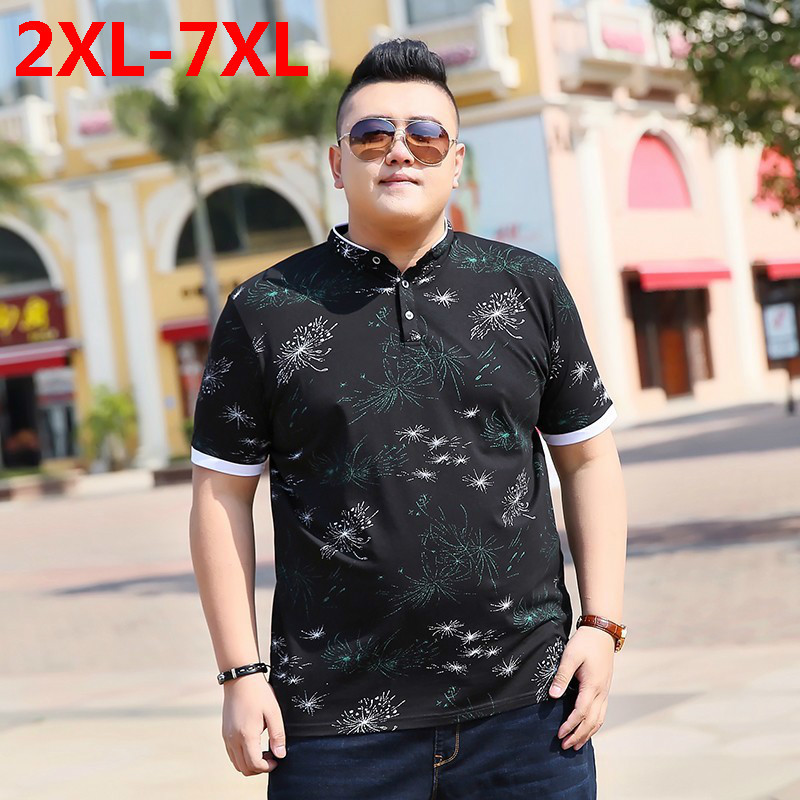 2018 nouvelle grande taille 9XL 8XL 7XL 6XL 5XL mode hommes dragon ball palace revers manches courtes camisa polo ralphmen pol chemise polo