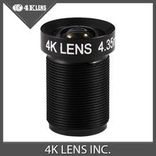 4K LENS 4.35MM Lens With Custom Logo 1/2.3 Inch 10MP IR 72D NON FISHEYE for Gopro Xiaomi Yi SJCAM Camera DJI Phantom Drones