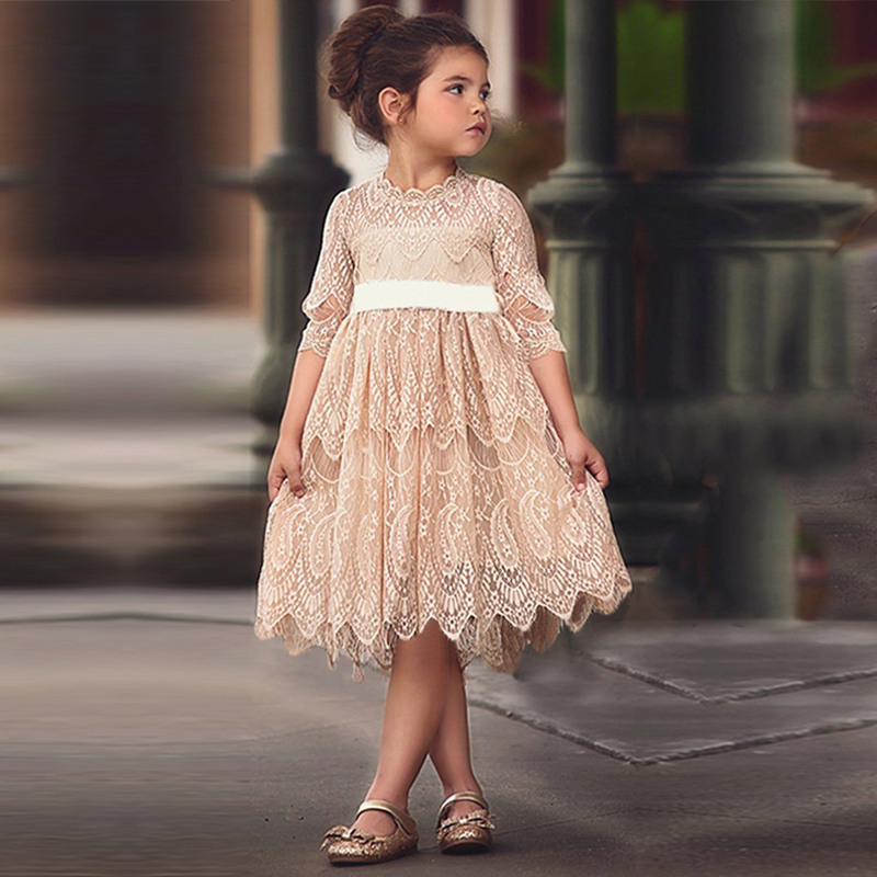 ><font><b>Girls</b></font> Lace <font><b>Dress</b></font> Spring Princess Clothing Ball Gown Half Sleeves Cute Party <font><b>Dresses</b></font> New Year <font><b>Christmas</b></font> Casual Clothes Vestidos