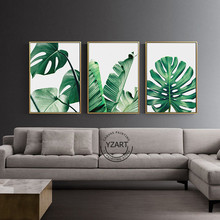 Nordic Style Green Leaf Monstera Deliciosa Tropical Leaves Forest Canvas Painting Wall Art Room Cuadros Decoracion With Free Shipping Worldwide Weposters Com Tropical sliced fruit with palm branches. nordic style green leaf monstera