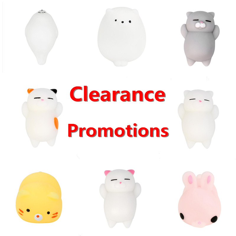 Dropshopper Mini Color Squishy Cute Cat Antistress Ball Skuishy Mochi Rising Abreact Soft Sticky Stress Relief Funny Gift Toy