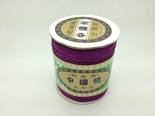 Высокое качество темно-фиолетового бисероплетение шамбала шнур веревка нейлона 1.5 мм веревка для шамбалы браслет / ожерелье