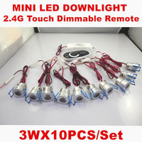 15PCS 10pcs Recessed Indoor Lighting Dimmable Spot Light 3W Mini Spot Led Exterieur Encastrab Downlight With RF Dimmer Driver