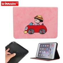 купить For ipad mini 1 2 3 4 case fashionable stitchwork Cartoon car Maruko Crayon Stand Protective Case TPU back Cover for ipad mini 4 по цене 555.03 рублей