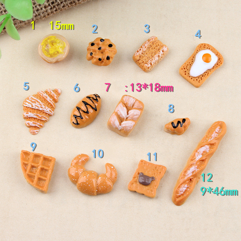 8pcs Simulation Food Breakfast Bread Cake Miniature Pretend Play Toys Dinner Tableware Doll House Accessories Kids Gift