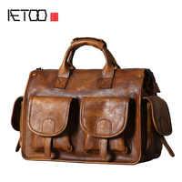 AETOO Original leder herren tasche handtasche schulter umhängetasche retro casual hand-made wischen nostalgische alte mann tasche