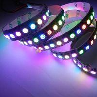1M DC5V WS2812B 5050SMD 144LED/M RGB Dream Color Addressable LED Strip 144Pixel/M 10mm Black/White PCB IP20/IP67 Waterproof