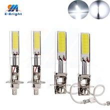 YM E-Bright 2 шт. H1 H3 светодиодные лампы для автомобиля противотуманные лампы высокой мощности COB 24 SMD Автомобильные светодиодные лампы для автомобиля 12 В 24 в белый