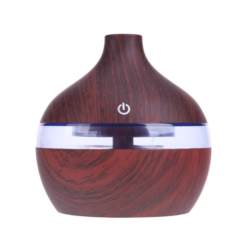 USB Aroma Aromatherapy Humidifier Ultrasonic Cool Mist Humidifier for Office Home  7 Color Wood  LED Lights Oil Diffuser aromatherapy aroma mix