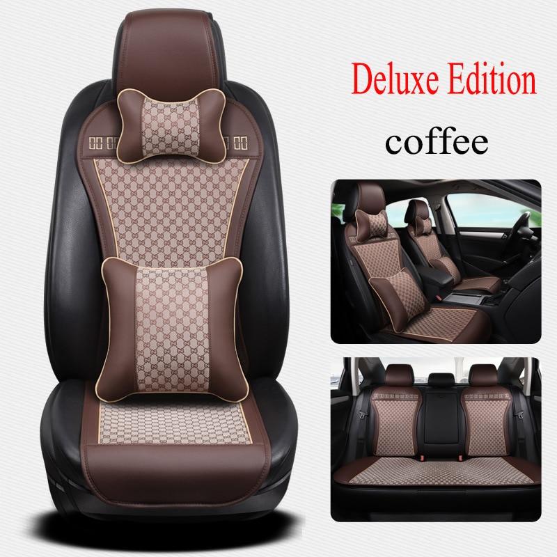 Kalaisike leather Universal Car <font><b>Seat</b></font> Cushion for Subaru all models <font><b>forester</b></font> BRZ XV Outback Legacy car styling car <font><b>seat</b></font> covers