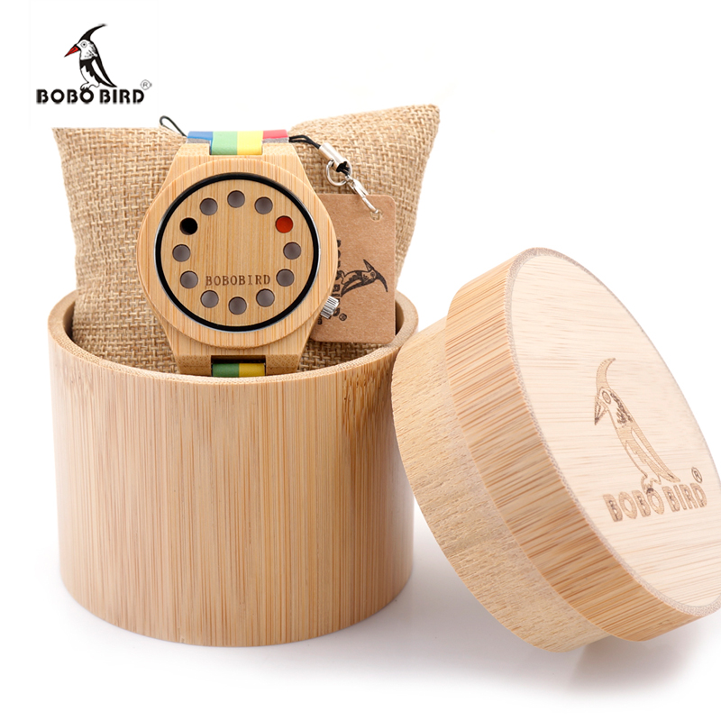 2017 BOBO BIRD Brand Men's Watches Bamboo Wood Wristwatches Male Luxury Wooden Watch as Gifts relogio masculino C-A01 2017 bobo bird brand luxury watch men genuine leather band outdoor casual wristwatches relogio masculino gifts c c20