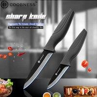 COOBNESS абсолютно новый керамический нож 2 шт. набор черный клинок черная ручка кухонный нож четыре стиля Фруктовый нож для нарезки шеф-повара