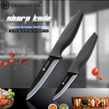 COOBNESS Фирменная Новинка Керамика Ножи комплект из 2 частей черное лезвие черная ручка Кухня Ножи четыре Стиль фруктов, универсальный нож поварской нож для тонкой нарезки