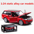 1:24 static alloy car models, high simulation model Range Rover, metal diecasts, puzzle toy vehicles, free shipping