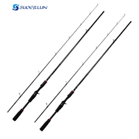 2.1m carbon rod M action casting spinning fishing pole tackle gear sea rod fishing tackle black lure rod