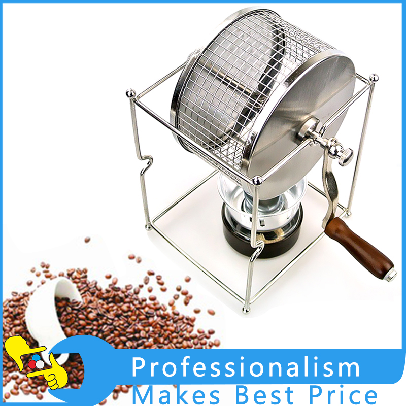 Manual Household Hand-baked Beans Coffee Beans Roaster DIY Small Stainless Steel Wheel Baking Machine retro type colin coffee beans manual grinder hand household coffee machine