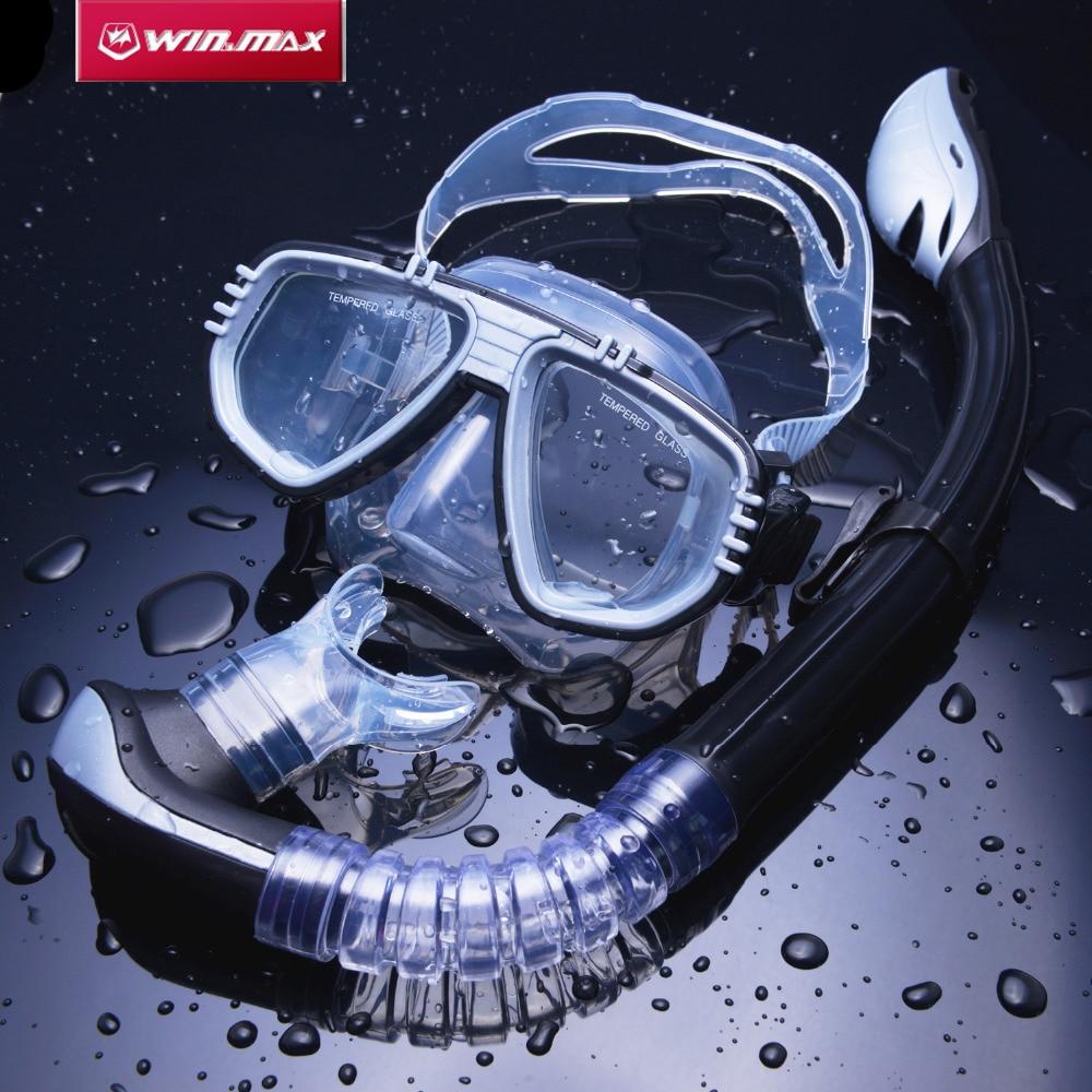 2017 WINMAX Ny Ankomst Svømning Scuba Dykkersæt Snorkling Anti-tåge Goggles Dive Mask Fuldtørret Dykk Snorkel Kit