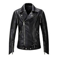 Новинка 2018 года для мужчин Кожаная одежда мотоциклетные мужская мода мужские кожаные куртки и пальто для будущих мам