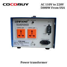 Cow king AC 110v to 220V 5KV Power transformer AD12-05KB 5000VA 50 60 Hz Output 23A Step-Up Down Voltage Converter come from USA
