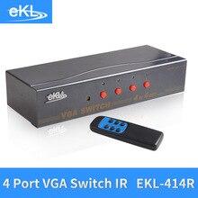 EKL 4x Input 4x Output VGA Splitter Switch with IR control 4 Way Switcher Resolution 1920×1440