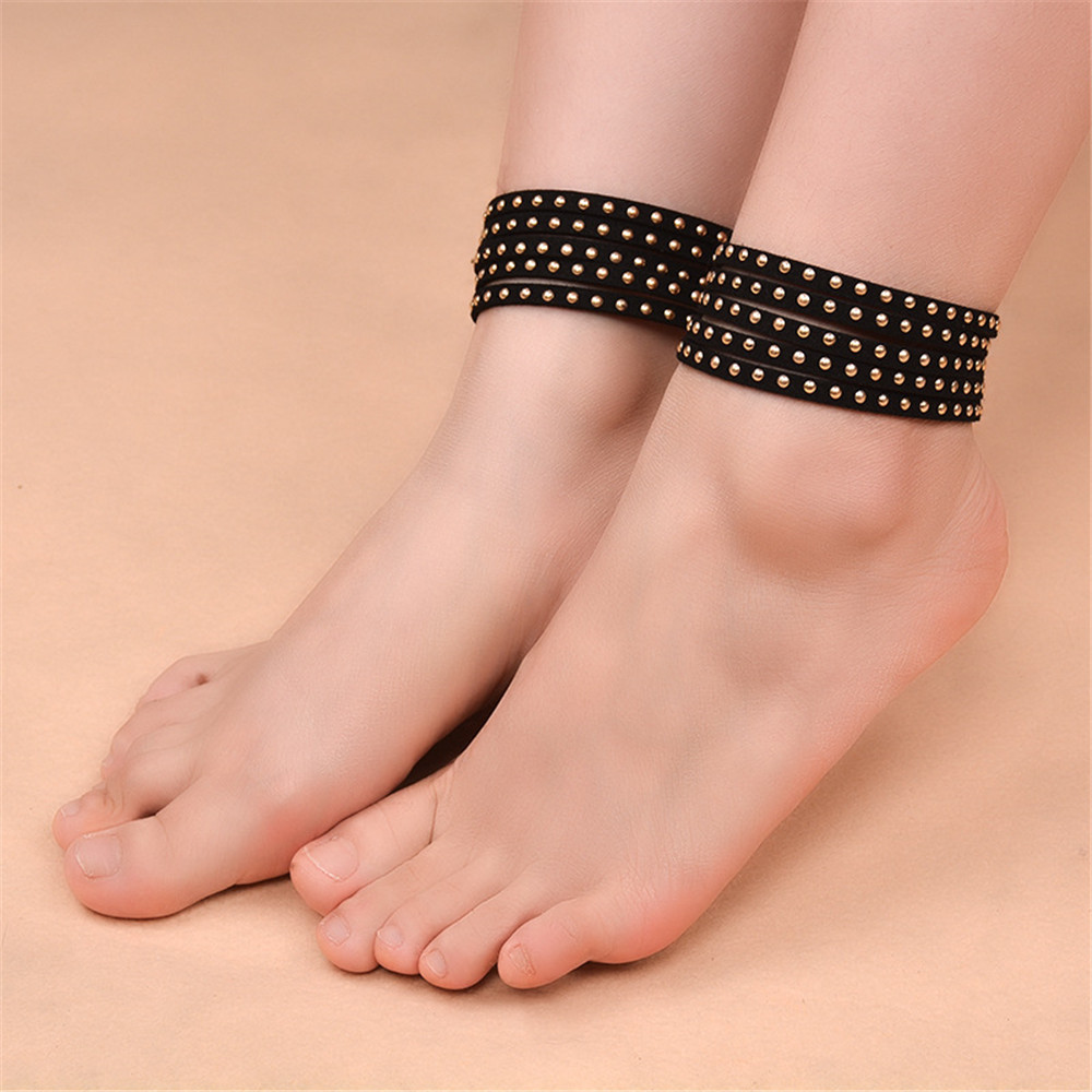 pin big for silver link chain out anklets foot ankles plated hollow thick women gold anklet