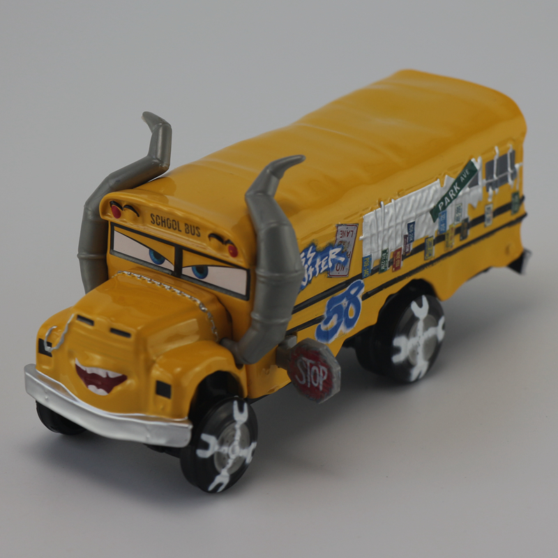 Disney Pixar Cars 3 Miss Fritter 1:55 Scale Diecast Metal Alloy Modle Car Cute Toys For Children Gifts