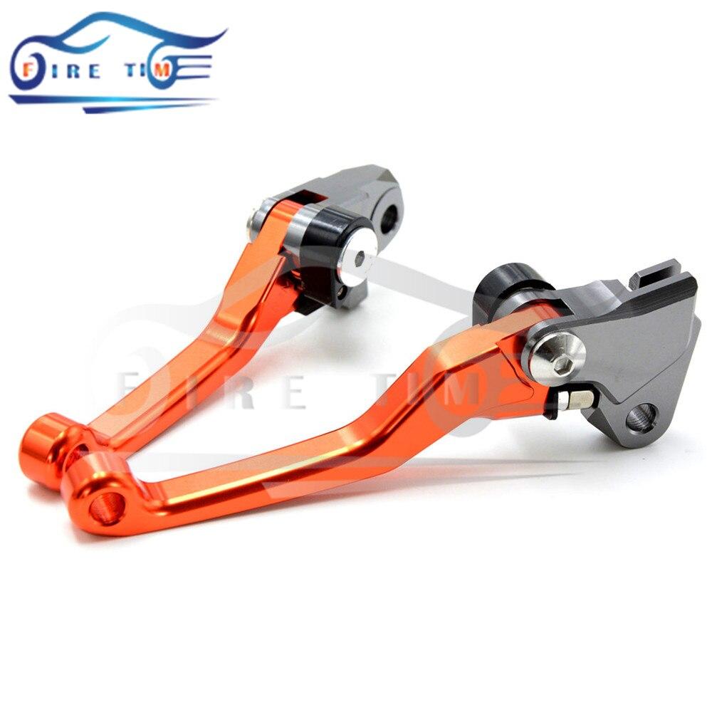 ФОТО Motocross Dirt Bike Billet Pivot Folding Brake Clutch Levers orange color For YAMAHA YZ250F 2009 2010 2011 2012 have  7 colors