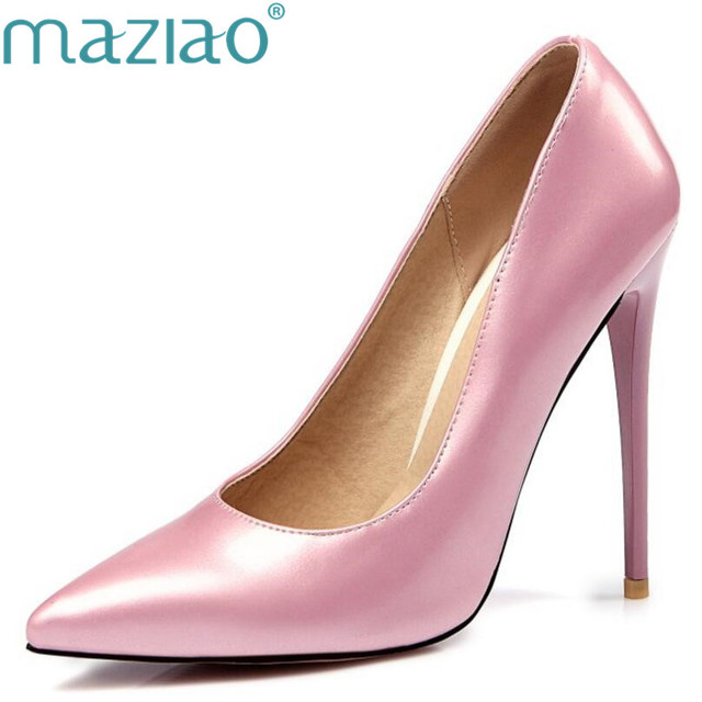 9d404d38ab3 MAZIAO Brand Shoes Woman High Heels Pumps Red High Heels 12CM Women Shoes  High Heels Wedding Shoes Pumps Black Nude Shoes Heels