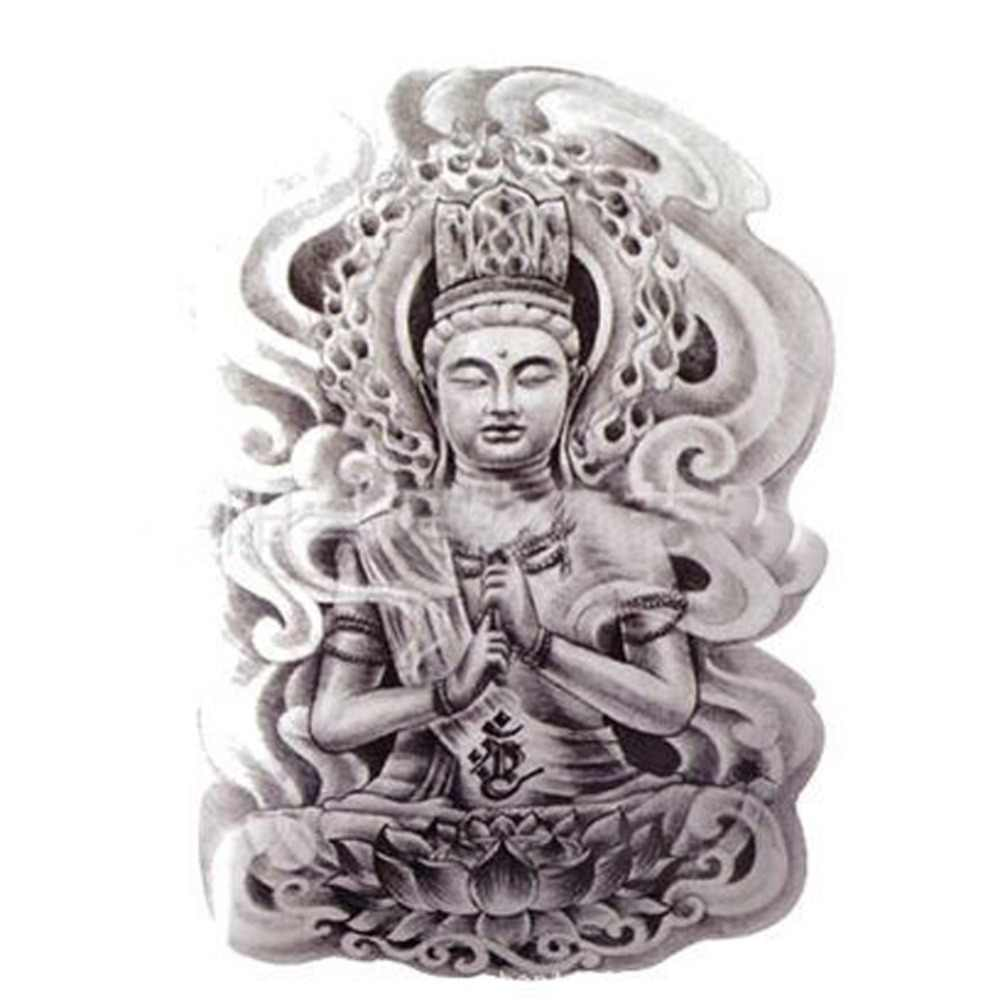 Buddha Tattoo Picture buddha tattoo designs stickers designer body art tattoo men temporary  tattoo sticker fake tatoo large temporary tattoos3d