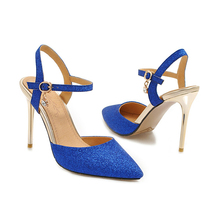 купить YANSHENGXIN Shiny Slingback Stiletto Shoes Woman Pumps Ladies Scarpin Women High Heels Pointed Toe Sexy Wedding Party Shoes по цене 1697.97 рублей