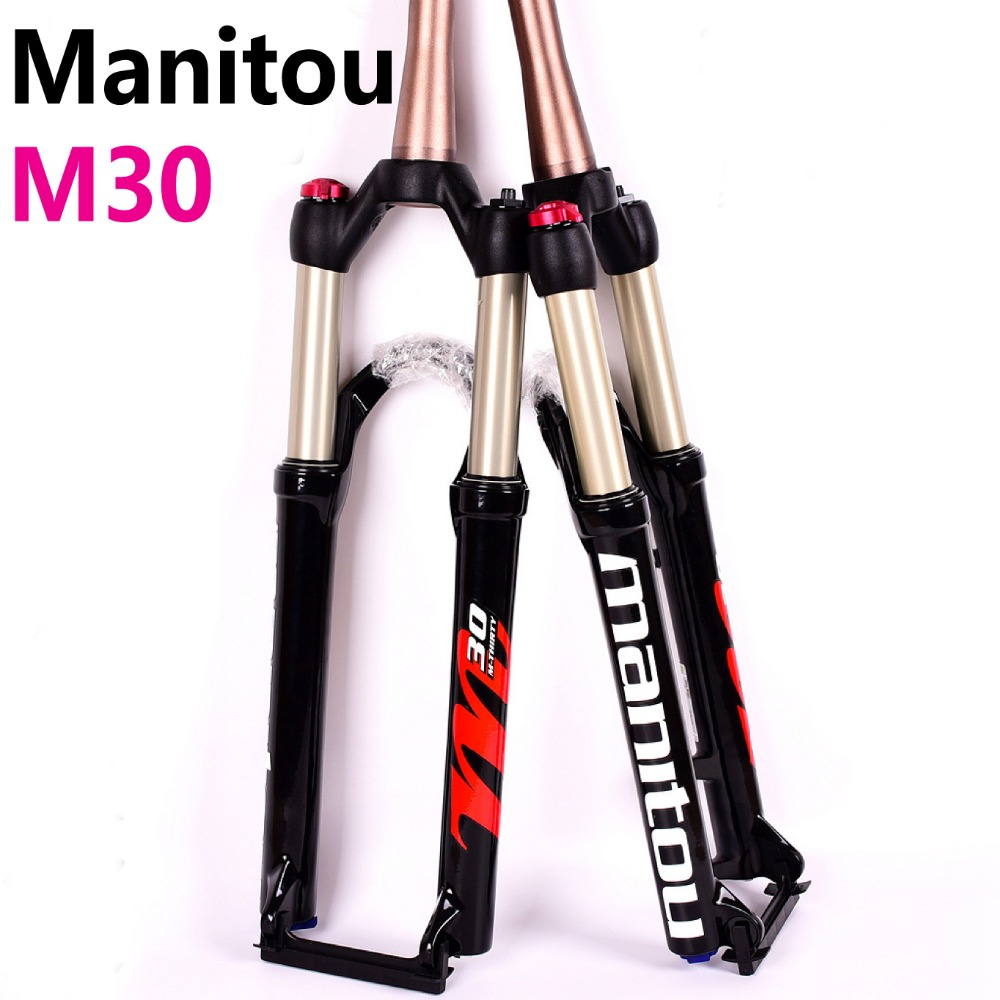 Manitou M30 Bicycle Fork 26/27.5 size Air Forks Mountain MTB Bike Fork Front Fork Suspension PK to SR SUNTOUR 2018 kiwat 2012 26 front suspension fork for mountain bike bicycle black