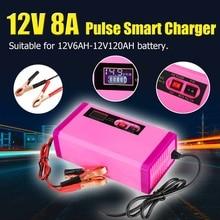 12V 8A 6-120Ah автомобильный Интеллектуальный аккумулятор стартер запуска зарядного устройства Банк питания 100-240V для инструмента литиевая батарея автомобильный мотоцикл
