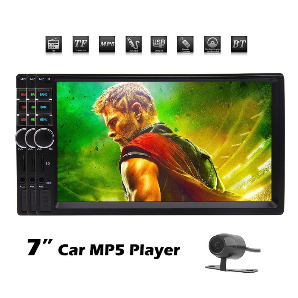 Car Stereo MP5 System Auto Video Audio Radio In Dash Head Unit support 5-touch Screen/ FM/Bluetooth/USB/SD/Multimedia vehicle