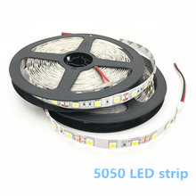 LED Strip Light SMD 5050 DC12V 60LEDs/m 5m/lot Flexible Home Decoration Lighting White / Warm white