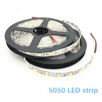 цена на LED Strip Light SMD 5050 DC12V 60LEDs/m 5m/lot Flexible Home Decoration Lighting LED Light 5050 LED Strip White / Warm white