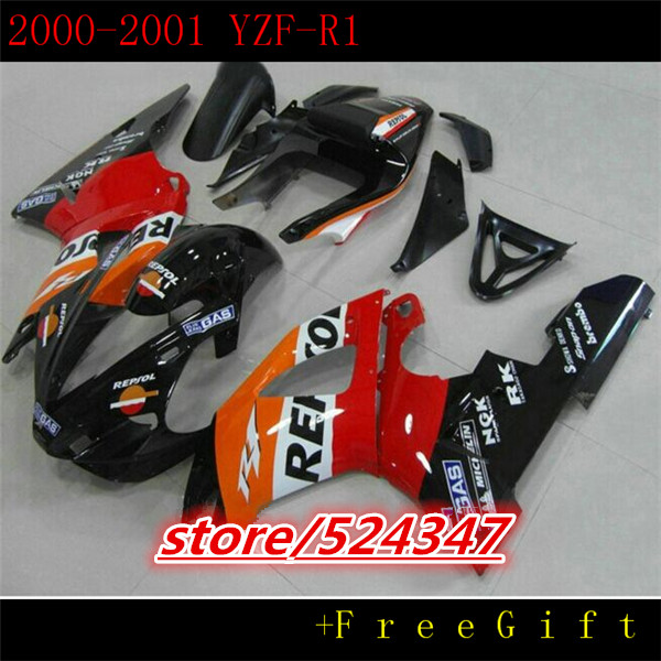 Hey For 00 01 Stock red YZFR1 00 01 YZF R1 R1 YZF R1 YZF1000 YZF 1000 Hot Red black 2000 2001 Fairings for Yamaha