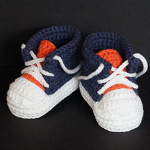 Baby Booties Handmade Crochet Knitted Sport Shoes Soft Sole