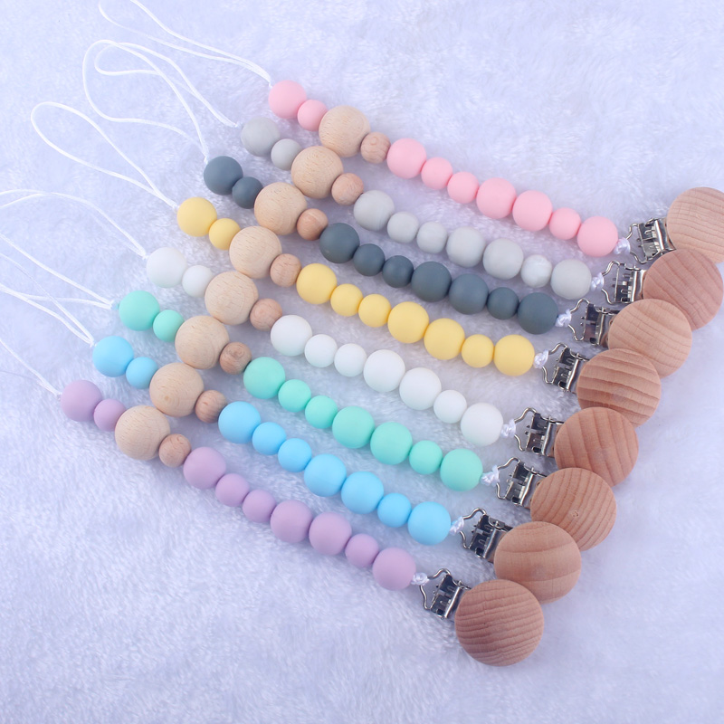 BPA FREE Silicone Nursing Pacifier Holder For Baby Dummy Clip Newborn Toddler Clothes Peg For Nipple