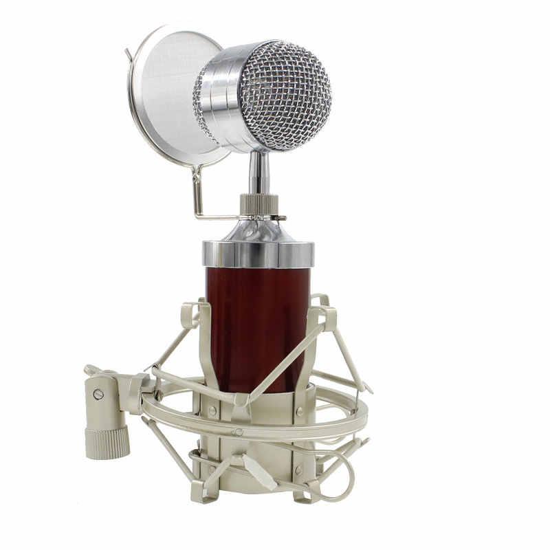 Professional BM 8000 Sound Studio Запись конденсаторный микрофон с мм 3,5 мм разъем стенд держатель для личного аудио запись KTV