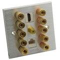 Алюминиевый 5 1 с HDMI и RJ45 динамик банан звуковая коробка настенная пластина