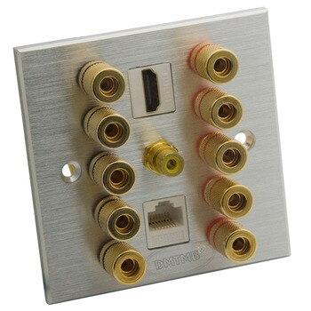 Aluminium 5.1 z głośnikiem HDMI i RJ45 głośnik bananowy