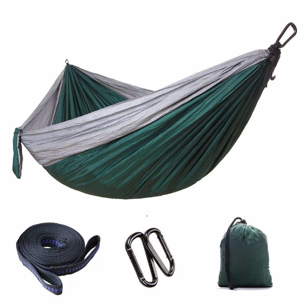 300*200Portable Nylon Parachute Hammock Camping Survival Garden Hunting Leisure Hamac Travel Double Person Hamak Hanging Hammock